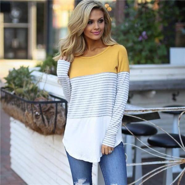 Lydia - Casual Striped Shirt