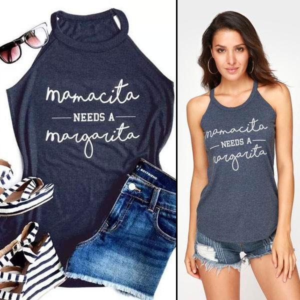 Mamacita - Needs a Margarita Shirt - S (4-6 US) (8 UK) - Tanktops