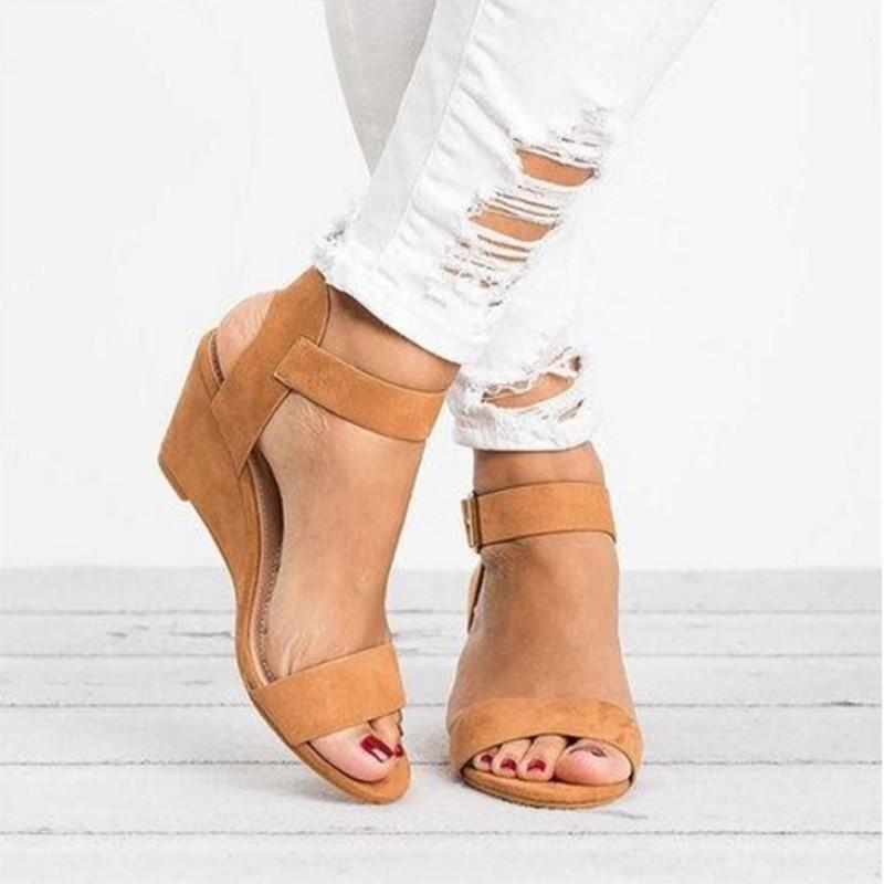 Scarlett - Elegant Summer Sandals - Brown / UK:4 / US:4.5 / EU:35
