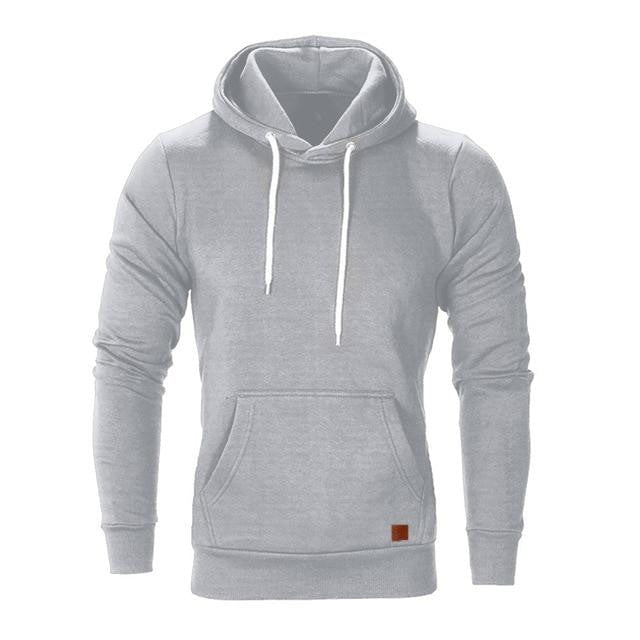 The Basic - Stylish Casual Hoodie - M (8-10 US) (10 UK) / Gray