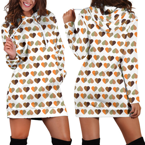 Fall Hearts Hoodie Dress