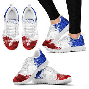SNEAKERS FRANCE FLAG WHITE