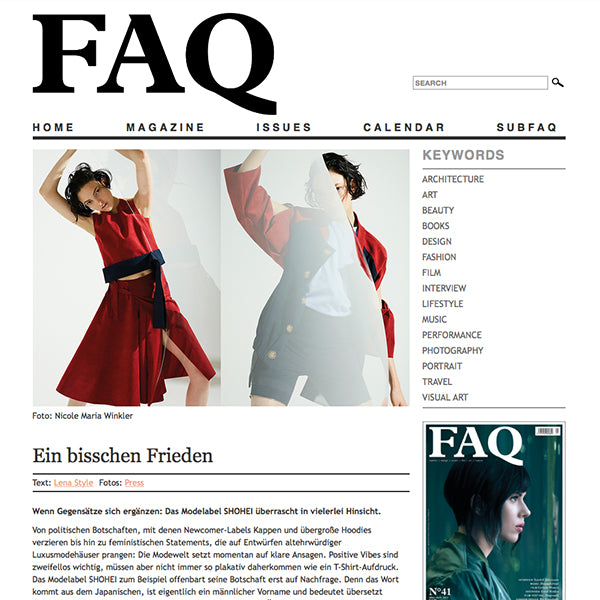 FAQ Magazine feature