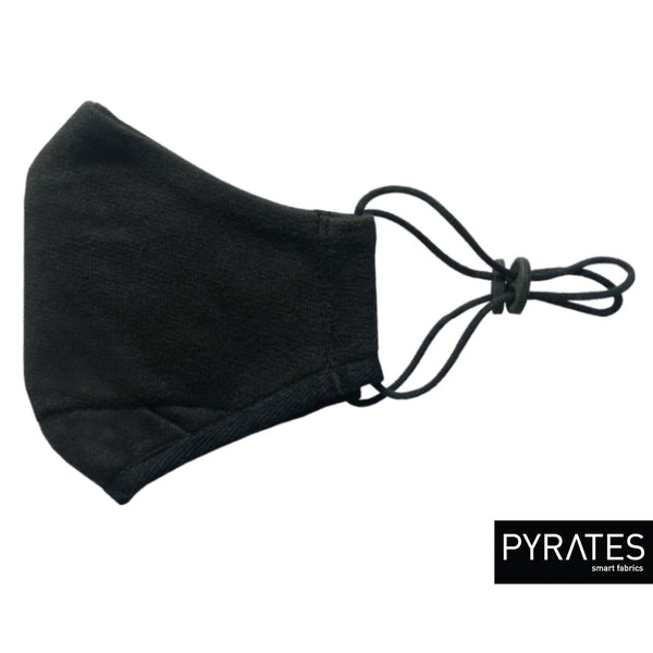 PM 2.5 Smart Mask BIO / black - organic cotton