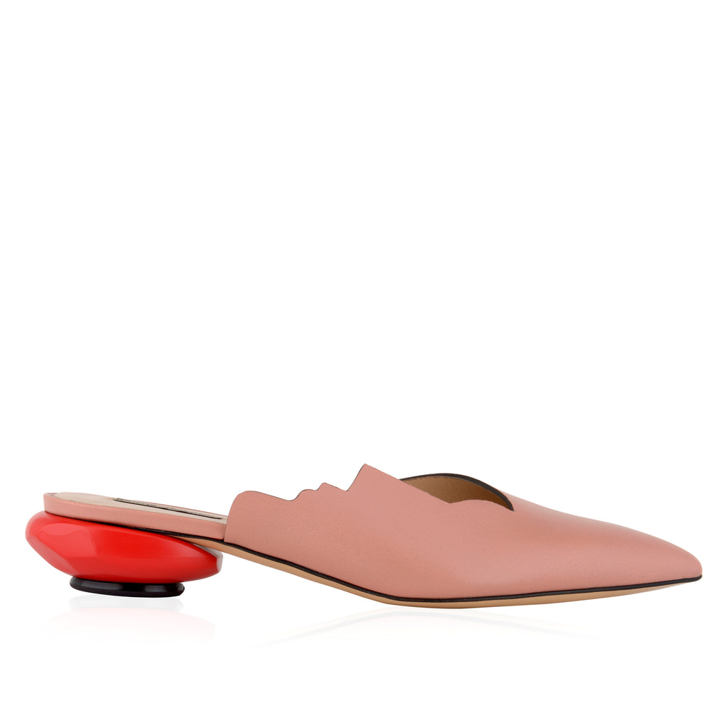 Well-favored Charlie Contour Beige women's mules from the London based brand