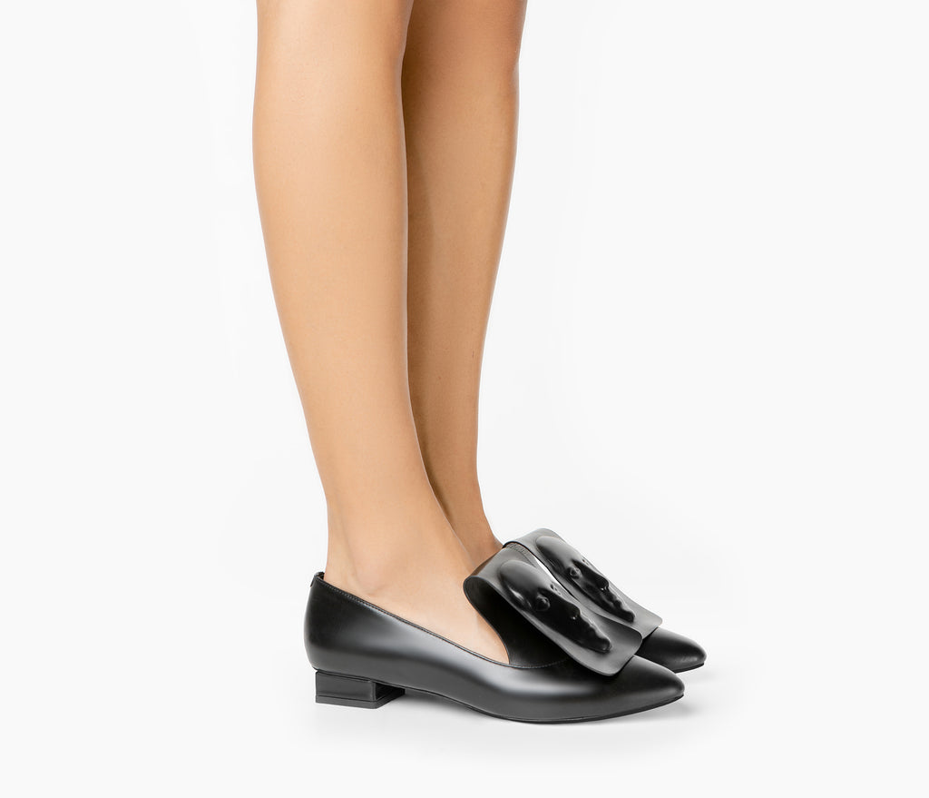 Niche black women's loafers from UK