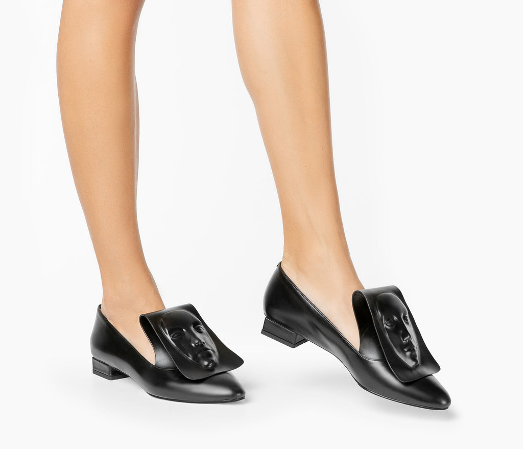 Art women's Clymene black loafers from the latest collection by Ganor Dominic