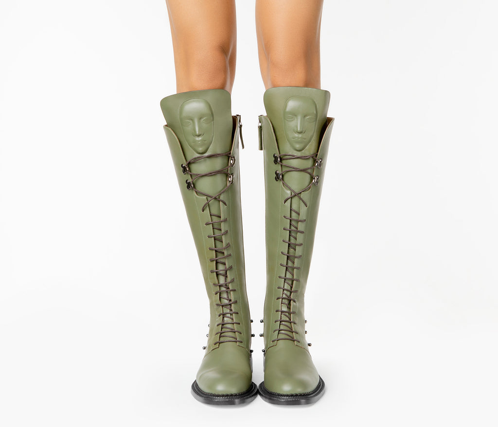 Niche Enyo Khaki women's boots from new collection