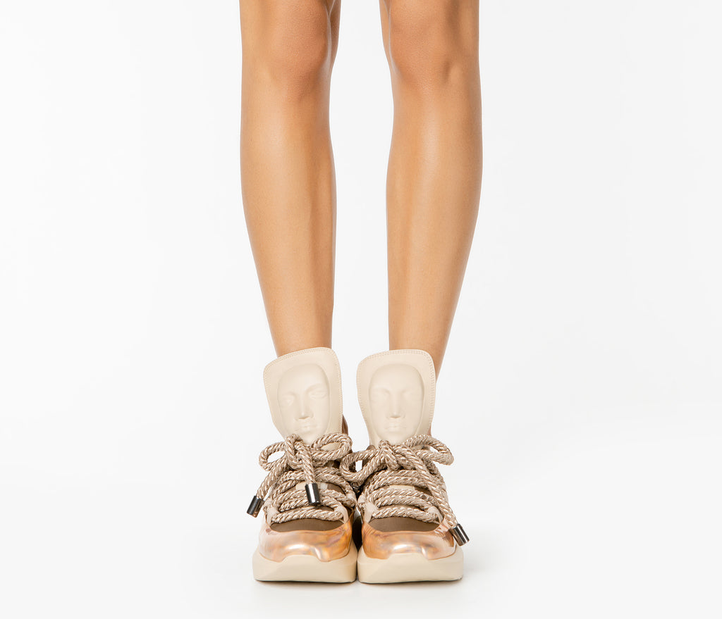 Vogue women's Ghost sand sneakers from UK