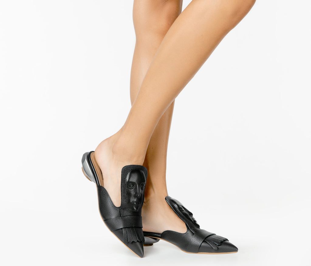 Black women's mules from new collection