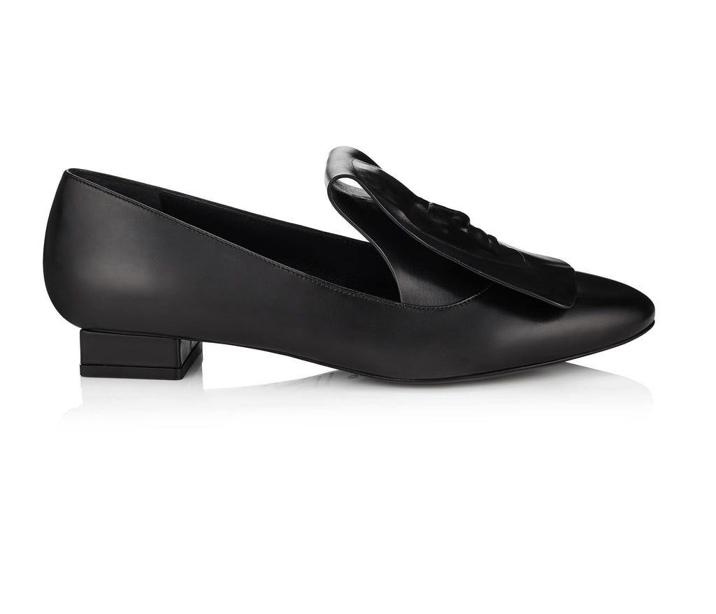 Art Black loafers for lady Clymene
