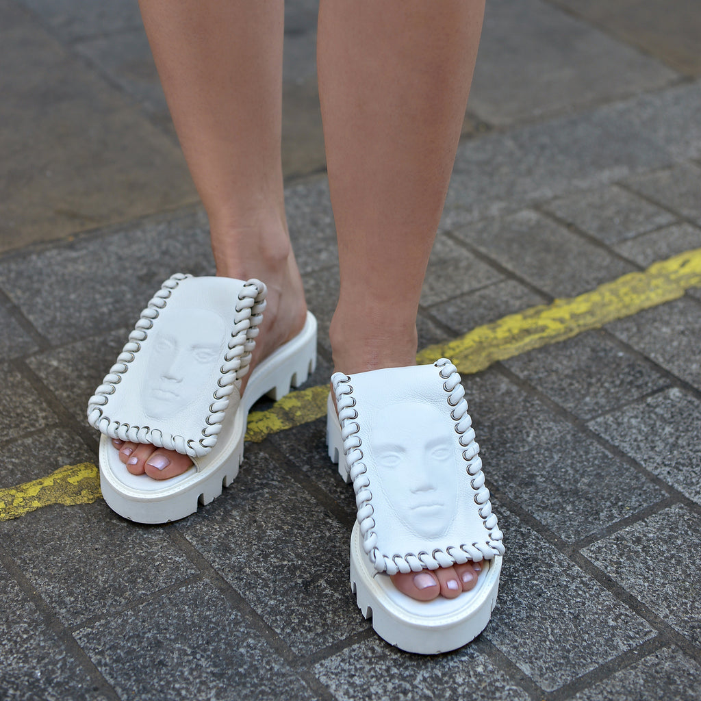 White Women's slides from new incredible collection
