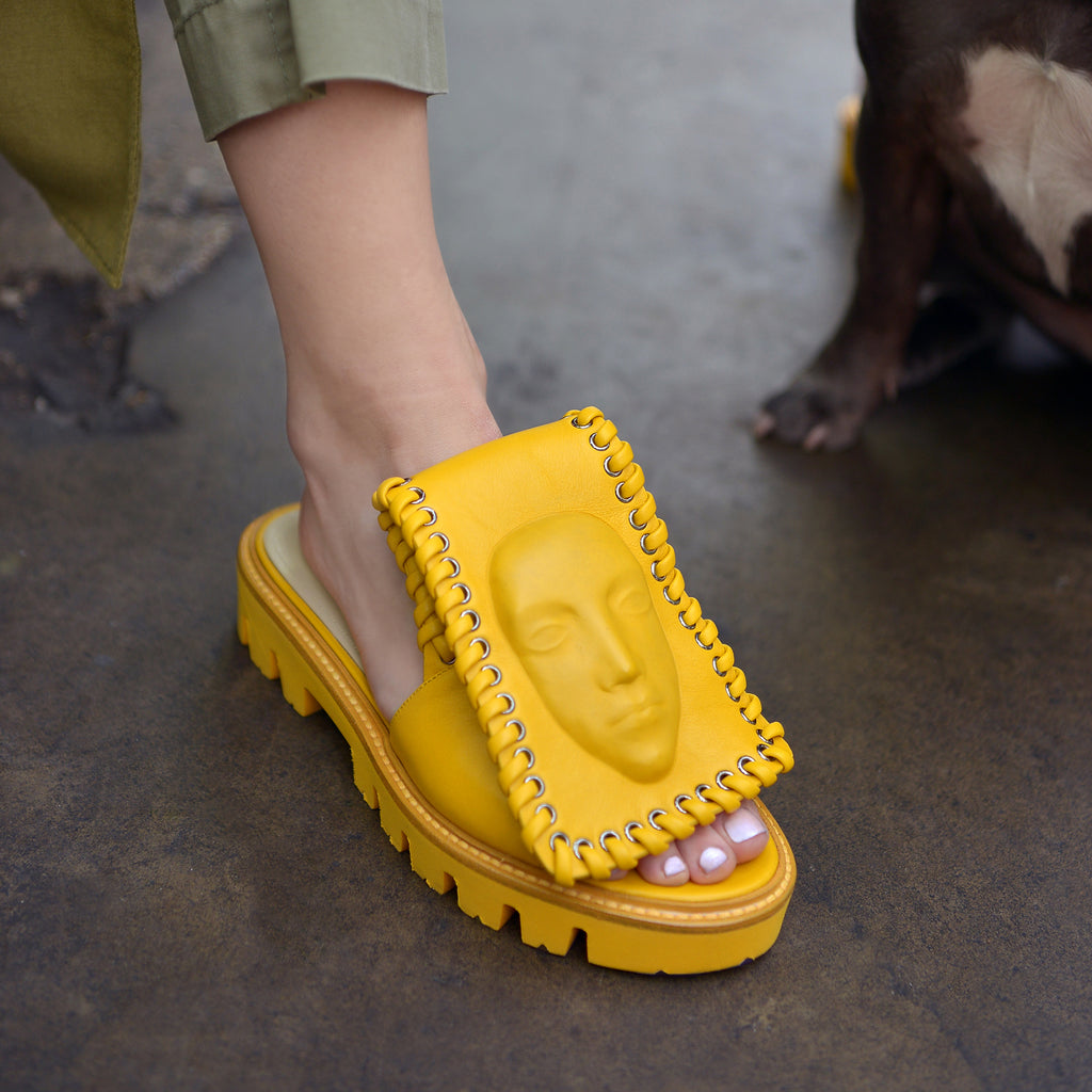 Wonderful yellow women's Slides