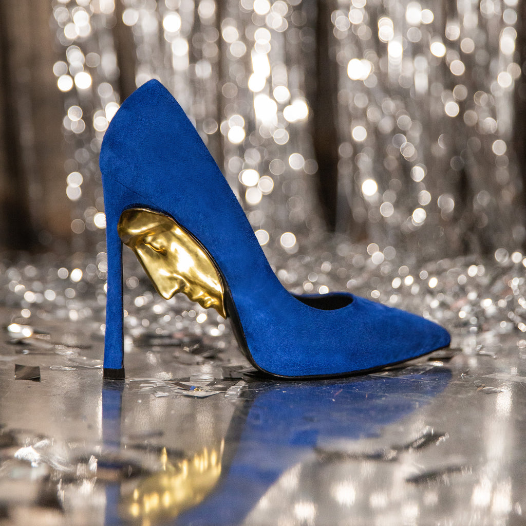 Extravagant Blue High heel Shoes For Ladies