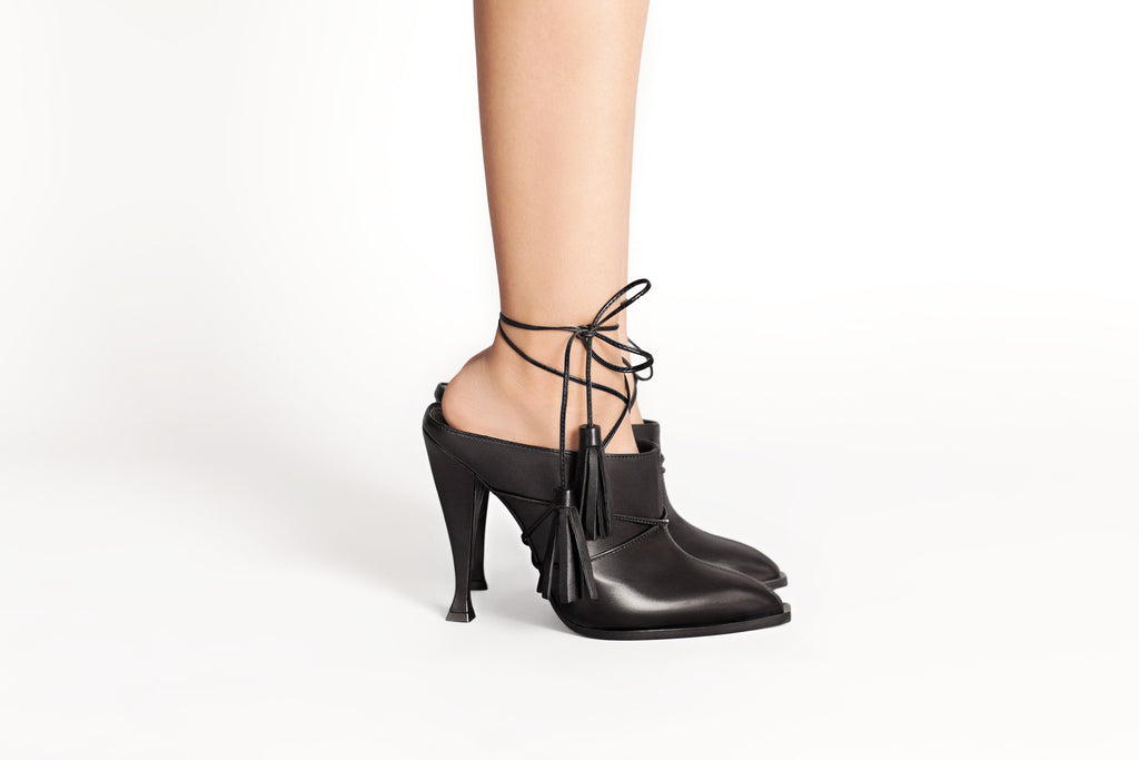 Fashionable Black Mules for Lady Nyx