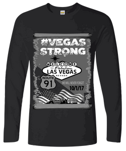 Commemorative #VegasStrong Long Sleeve T-Shirt Free Shipping