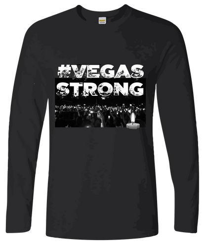 Candlelight #VegasStrong Long Sleeve T-Shirt Free Shipping