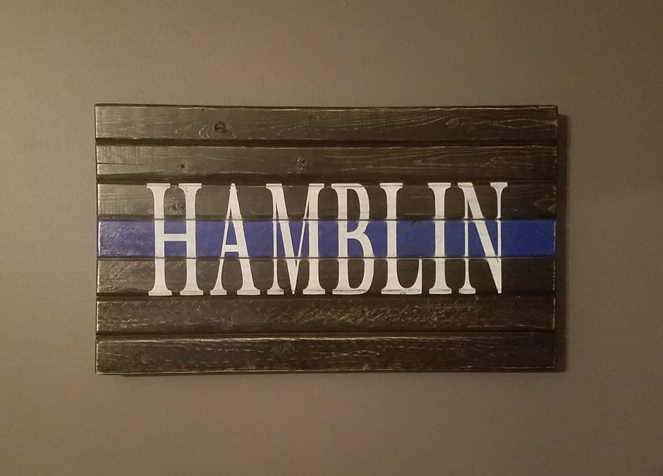 Thin Blue Line Plaque, 10