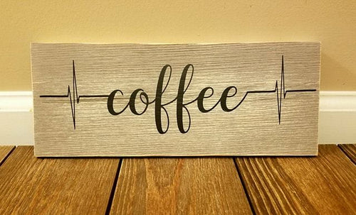 Coffee Heartbeat Sign