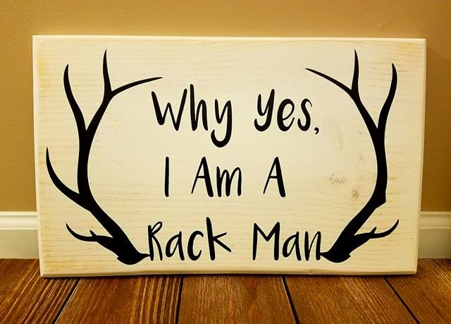 Rack Man Sign
