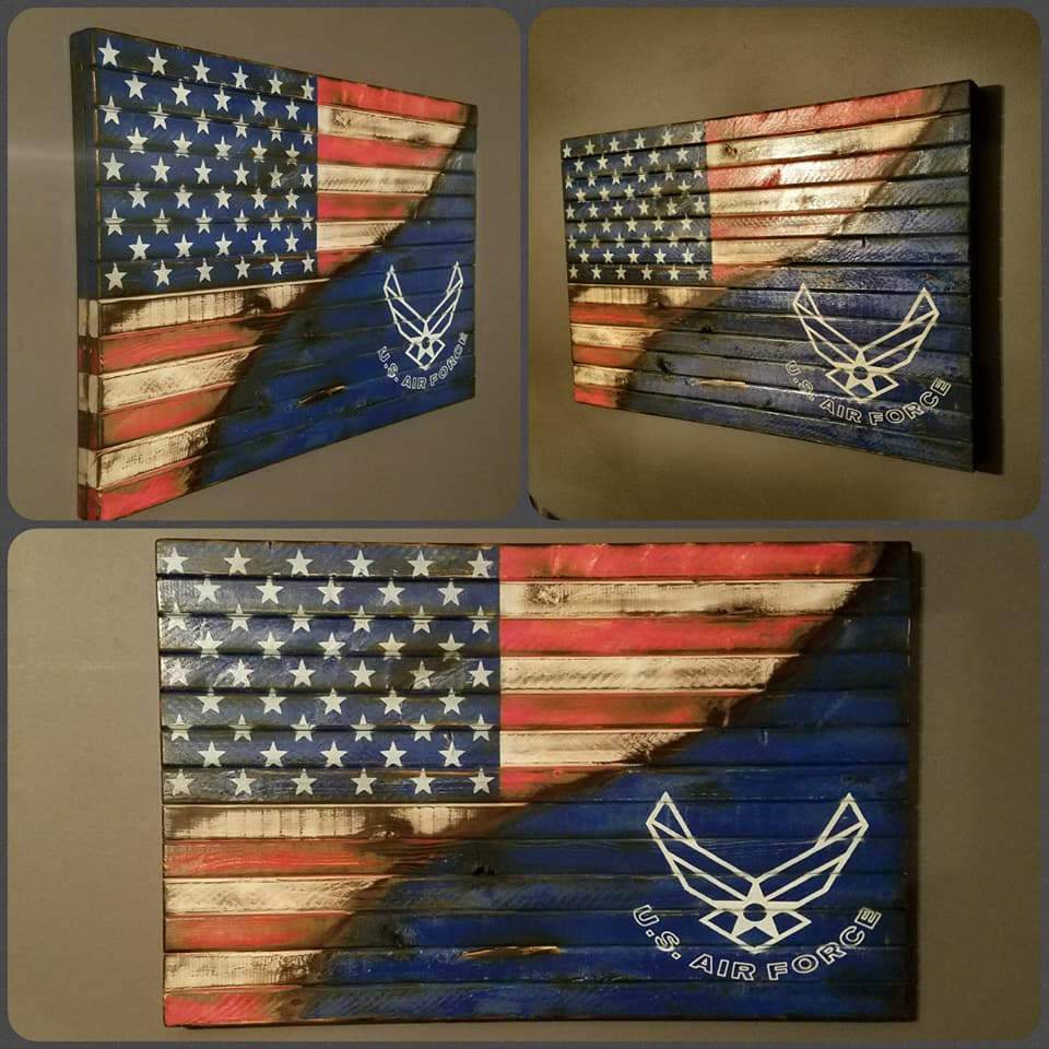 War Torn American Flag / United States Air Force Edition, 20