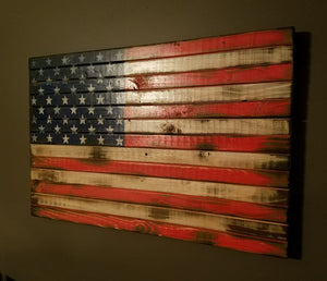 "War Torn American Flag, 20"" x 30"""