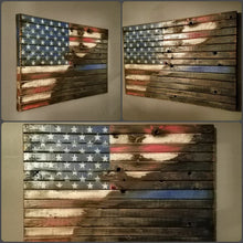 "War Torn Thin Blue Line / American Flag, 20"" x 30"""