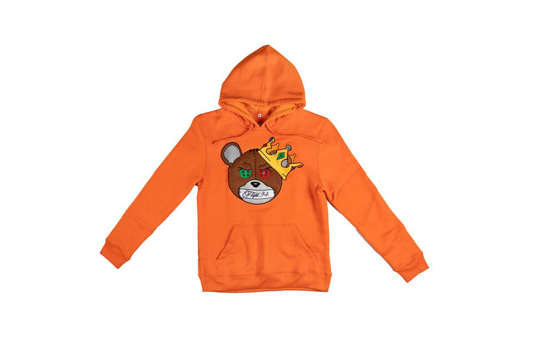 Silence Is Key Hoodie ( Orange)