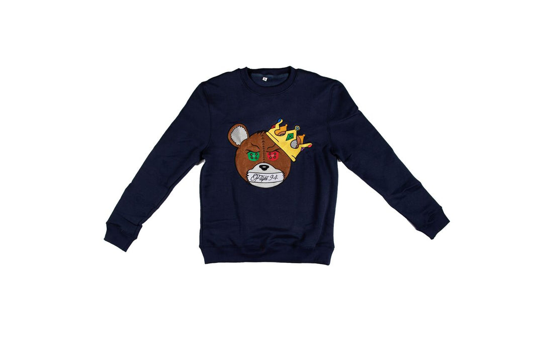 Silence Is Key Sweatshirt (Navy Blue)