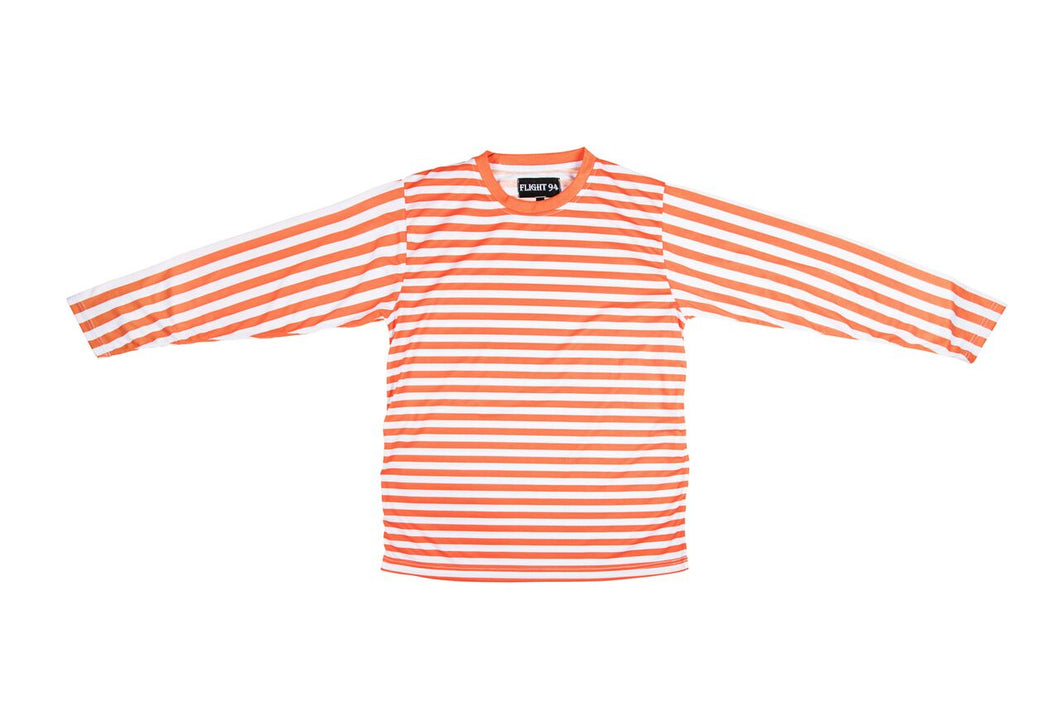 Orange Striped Shirt