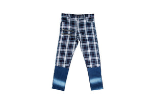 Blue Plaid Pants