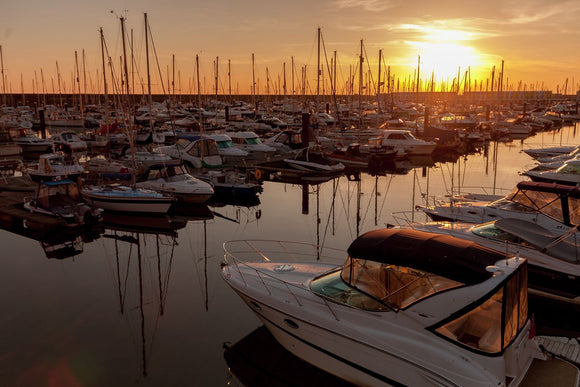 Sunset at Brighton Marina