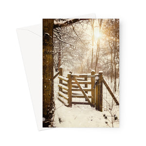 'Kissing Gate'  -   Greeting Card