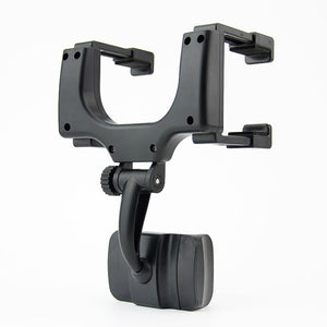 2017 360 Degree Car-styling Rearview Car Phone Holder Mirror Mount Holder Stand Cradle Mechanical Clamp For Cell Phone