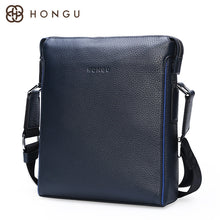 HONGU Genuine Cow Men's Messenger Bag Fashion Men Crossbody Bags Business Style Male Designer Totes Flap Shoulder Bags Bolsa New