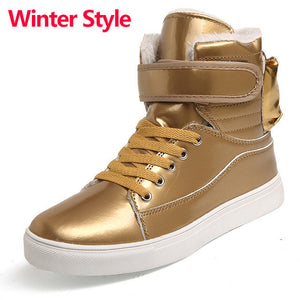 Merkmak High Quality Men Boots Winter Casual Brand Warm Shoes Ankle Boots Leather Plush Fur Fashion Boots Shoes for Men