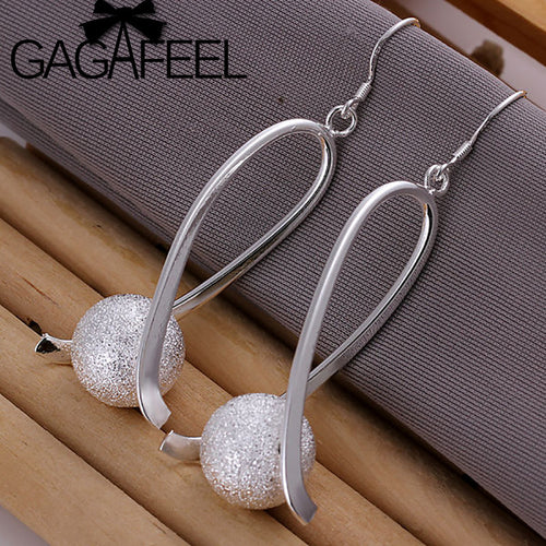 GAGAFEEL Fashion earrings Women Fashion jewelry Silver plated earrings High Quality Round Ball earring factory price LE133