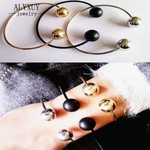 Fashion accessories jewelry New copper alloy round Pellet cuff bangle mix color gift  for women girl wholesale B3245