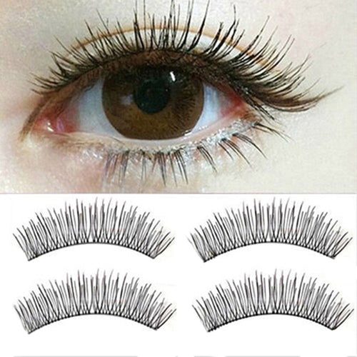 10 Pairs Soft Natural Cross Eye Lashes Makeup Extension False Eyelashes Party, Cocktail