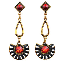 1 Pair Elegant Women Fashion Rhinestone Ear Earrings Crystal Chain Golden VINTAGE EARRINGS #30