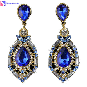 1 Pair Women Sparkling Crystal