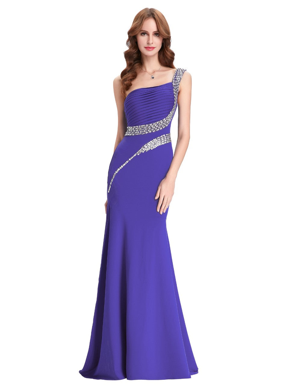 Grace Karin Sequin Long Prom Dresses Black Red Royal Blue Green One ...
