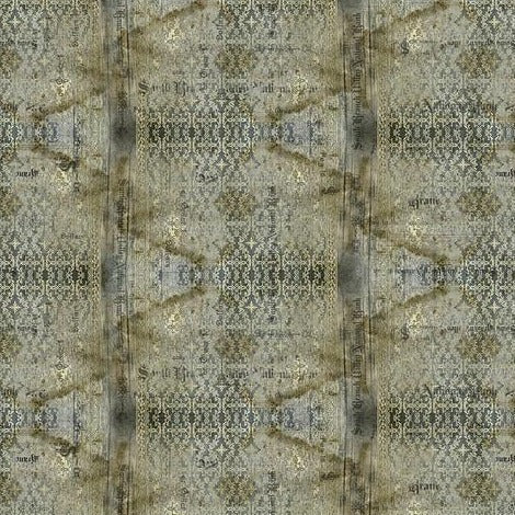 Tim Holtz Eclectic Elements - Abandoned - Stained Damask - Neutral