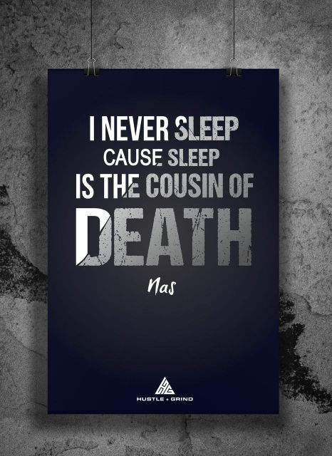 I Never Sleep Cause Sleep Is The Cousin of Death - Nas
