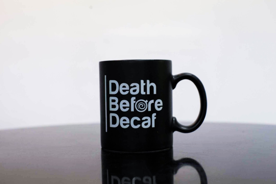 Death Before Decaf mug