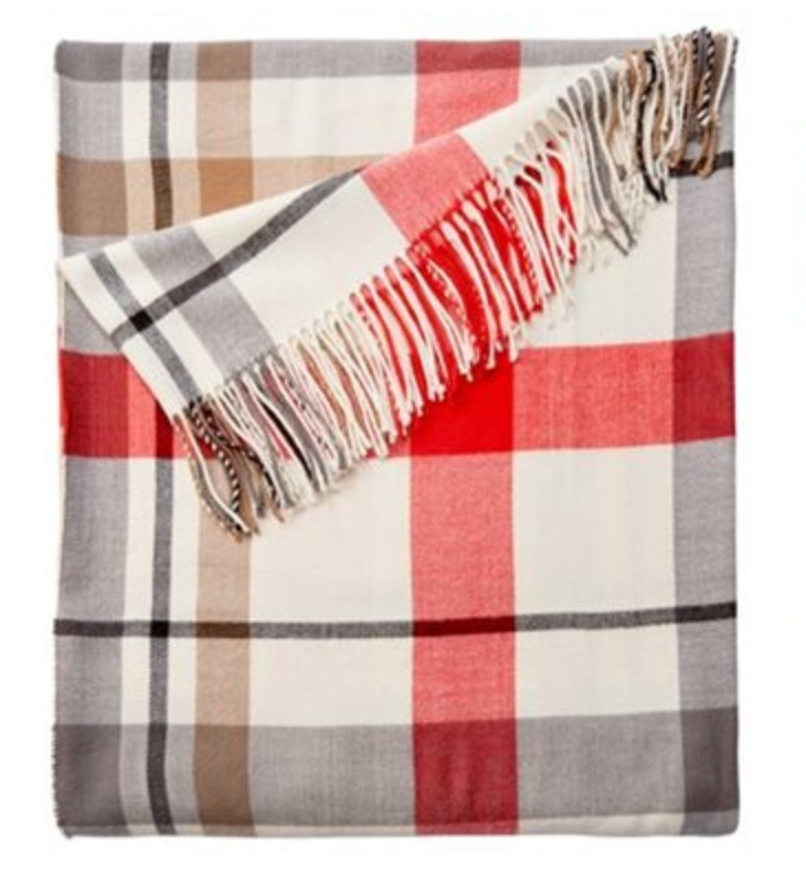 Chapters plaid throw blanket