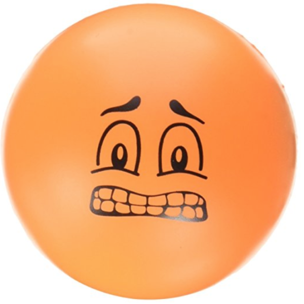 Orange face stress ball