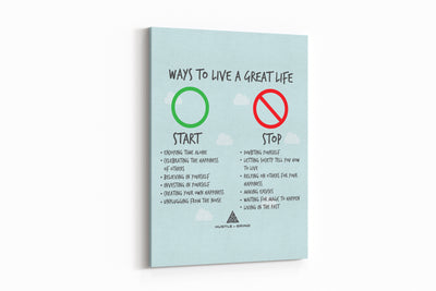 Live A Great Life - 24x36