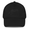 Hustle Calligraphy Dad Cap
