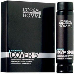 Gel colorant pentru par - Loreal Homme Cover 5-3 Dark Brow 50 ml